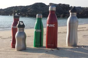 Reusable bottles. No single use plastic.